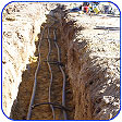 geothermal well-field piping